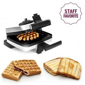 Bundle Belgian Waffle Maker including Liège waffle plate (M001) – Stuffed waffle plate (M008) and Toast waffle plate (M005)