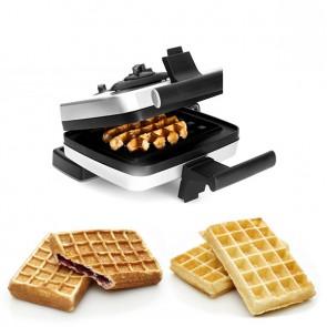 Bundle Belgian Waffle Maker including Liège waffle plate (M001), stuffed waffle plate (M008) and traditional US style waffles (M002)