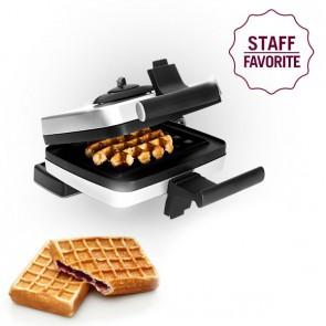 Bundle Belgian Waffle Maker including Liège waffle plate (M001) and Stuffed waffle plate (M008)
